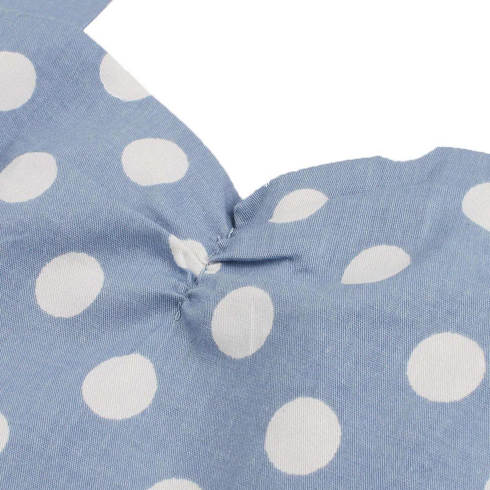 Joineles винтажное платье в горошек с принтом женское хлопковое рокабилли без рукавов Холтер качели платья для вечеринок с поясом Feminino Vestidos