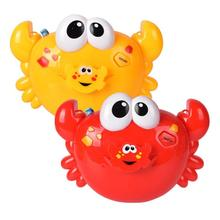 Crabs Music Light Electric Bubble Maker Machine Baby Kids Outdoor Bath Toys Funny Crabs Shape Bubble Makers for Baby Child Gifts