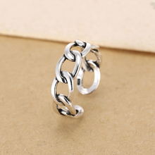 925 Sterling Silver Open Rings For Women Personality Simple Style Lady Prevent Allergy Sterling-silver-jewelry Hollow out  Ring