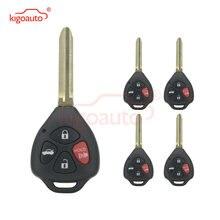 Kigoauto 5 шт 4 кнопки с g чипом toy43 лезвие 315 МГц для 2008
