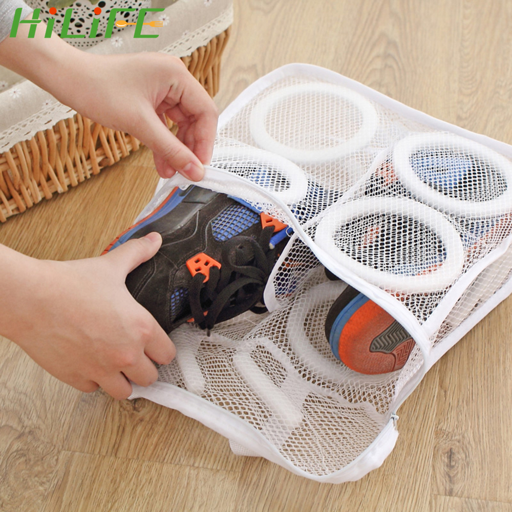 HILIFE Mesh Laundry Bag Shoes Airing Dry Tool For Shoes Underwear Bra Lazy Shoes Washing Bags Protective Organizer Washing Bags