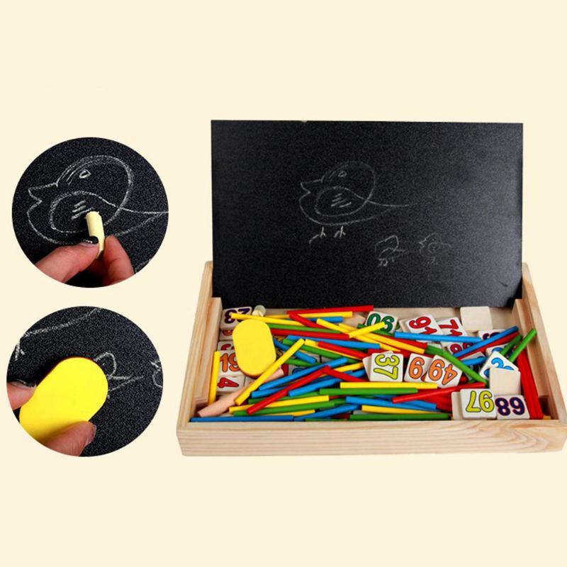 Enfants en bois mathématiques jouet enfant éducatif mathématiques calculer jeu jouets