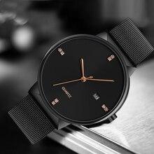 цены CIVO Luxury Top Brand Mens Quartz Watch Simple Design Genuine Leather Watches Men Waterproof Minimalist Wristwatch Men Clock