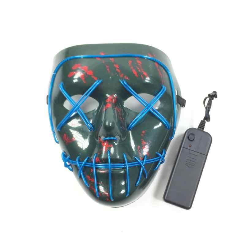 MTB Sepeda Bersepeda Bersinar Penuh Tari Topeng Pesta LED Masker Keren Masker Dingin Cahaya Topeng Hijau Tua Horor Peralatan Olahraga