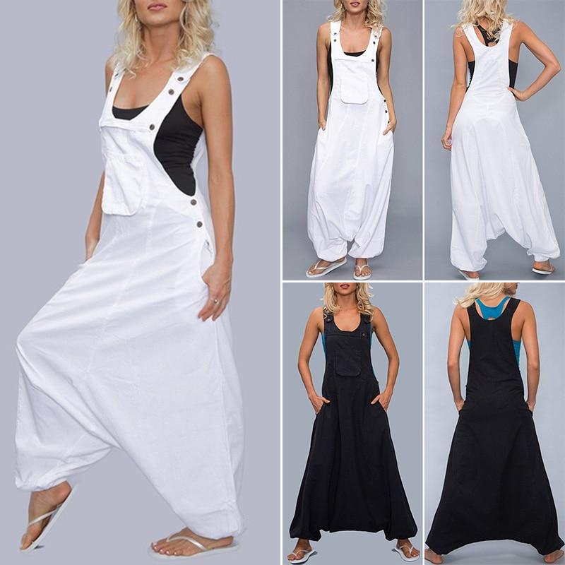 Women Oversized Romper   Jumpsuit   Wide Leg Casual Loose Baggy office work   Jumpsuit   Plus Size