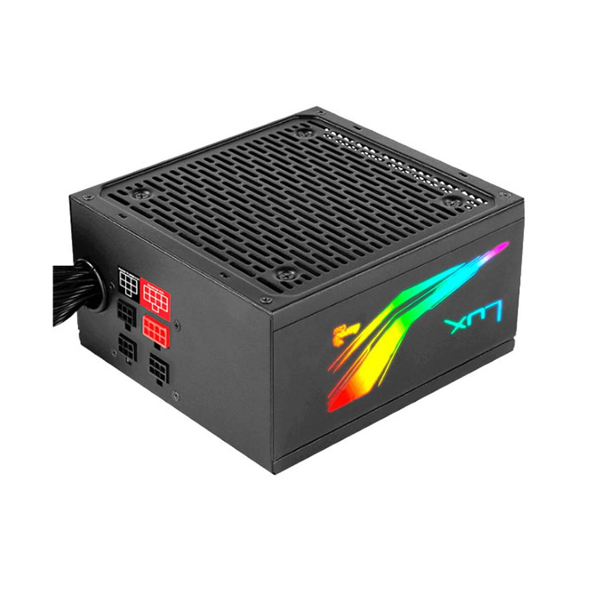 Source Eco-friently Aerocool Lux RGB 550 W, Certificate 80 PLUS Bronze, Modular, Active PFC, Vent. 12x12 Cm Lighting R