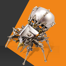 11cm Height Medium Spider Mecha Sound Robot Metal DIY Assembly Sound Robot Toy with Sound Creative Present Gift for Men(China)