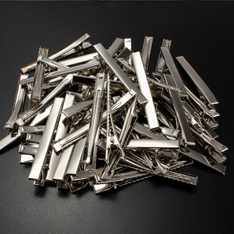 50pcs/lot Metal Crocodile Clips Cable Lead Testing Metal Alligator Clips Clamps Hair Clips Hairpins 30mm-75mm
