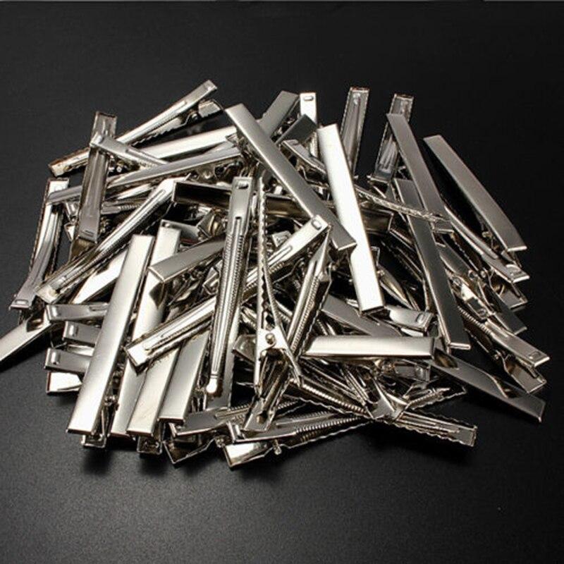 50 pièces/lot pinces crocodiles en métal câble plomb test pinces crocodiles en métal pinces à cheveux épingles à cheveux 30mm-75mm