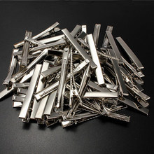 50pcs/lot Metal Crocodile Clips Cable Lead Testing Metal Alligator Clips Clamps Hair Clips Hairpins 30mm-75mm(China)