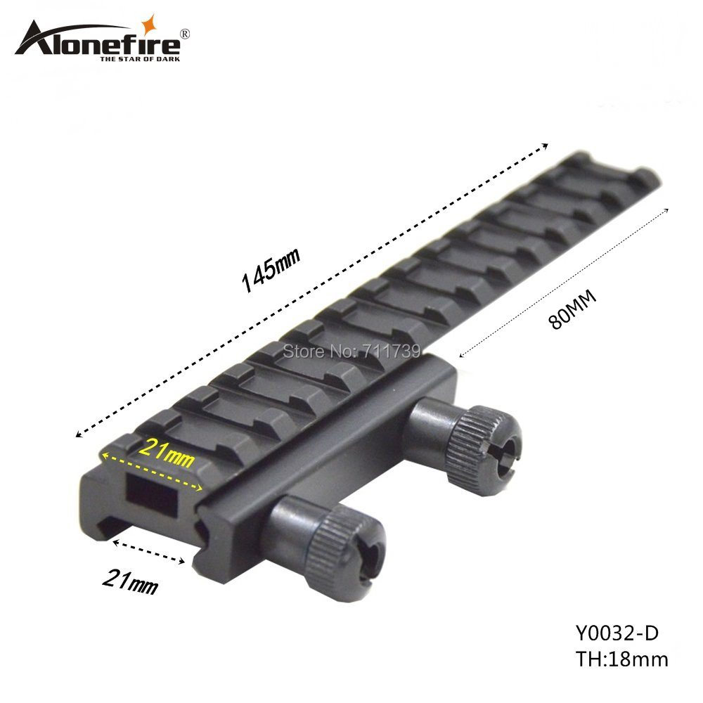 Alonefire Scope Mount Base Flattop Riser Extended Long Pour 20mm/21mm Picatinny Weaver Rail - 1PC Y0032-D