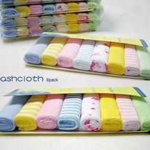 Мягкое хлопковое детское полотенце для новорожденных, полотенце для ванной, детские салфетки для кормления, 8 шт