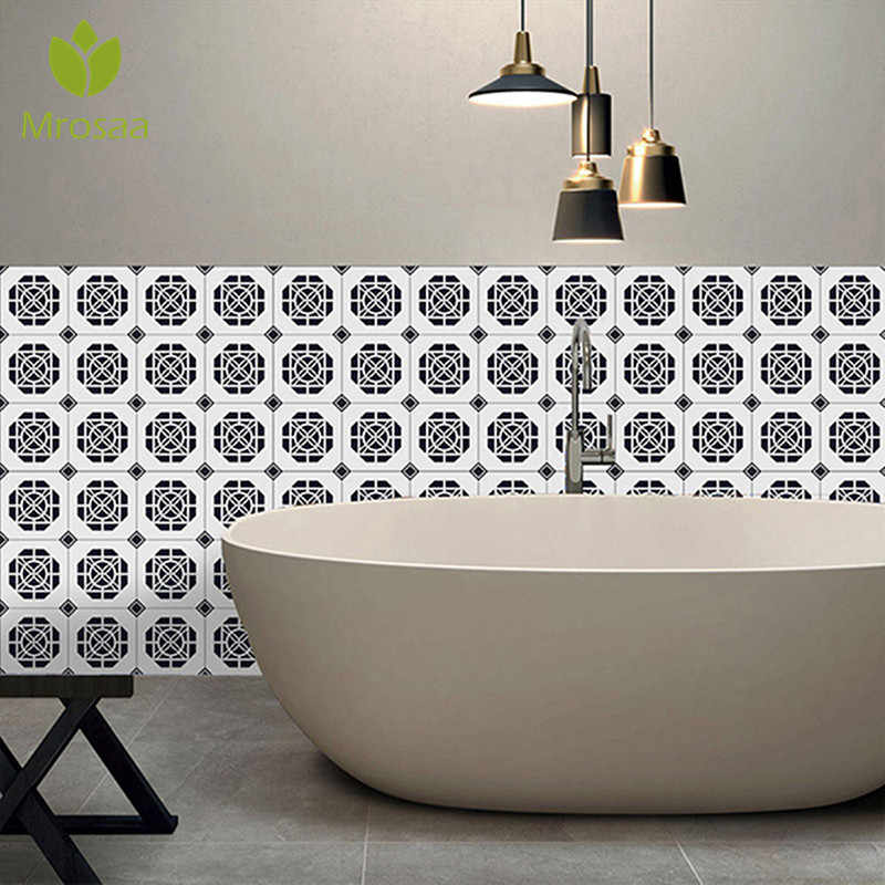 25Pcs Self Adhesive Living Room Wall Floor Stickers Bohemia Simulation Ceramic DIY Kitchen Bathroom Wall Decal Sticker Decor