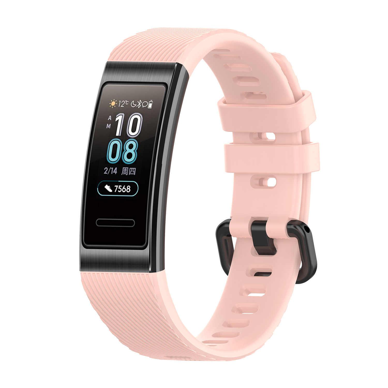 """Watch Band Strap di Ricambio per Huawei Fascia 3 0.91 """"Pro Braccialetto Del Silicone Wristband Frequenza del polso Schermo OLED Monitor Push Messaggio"""