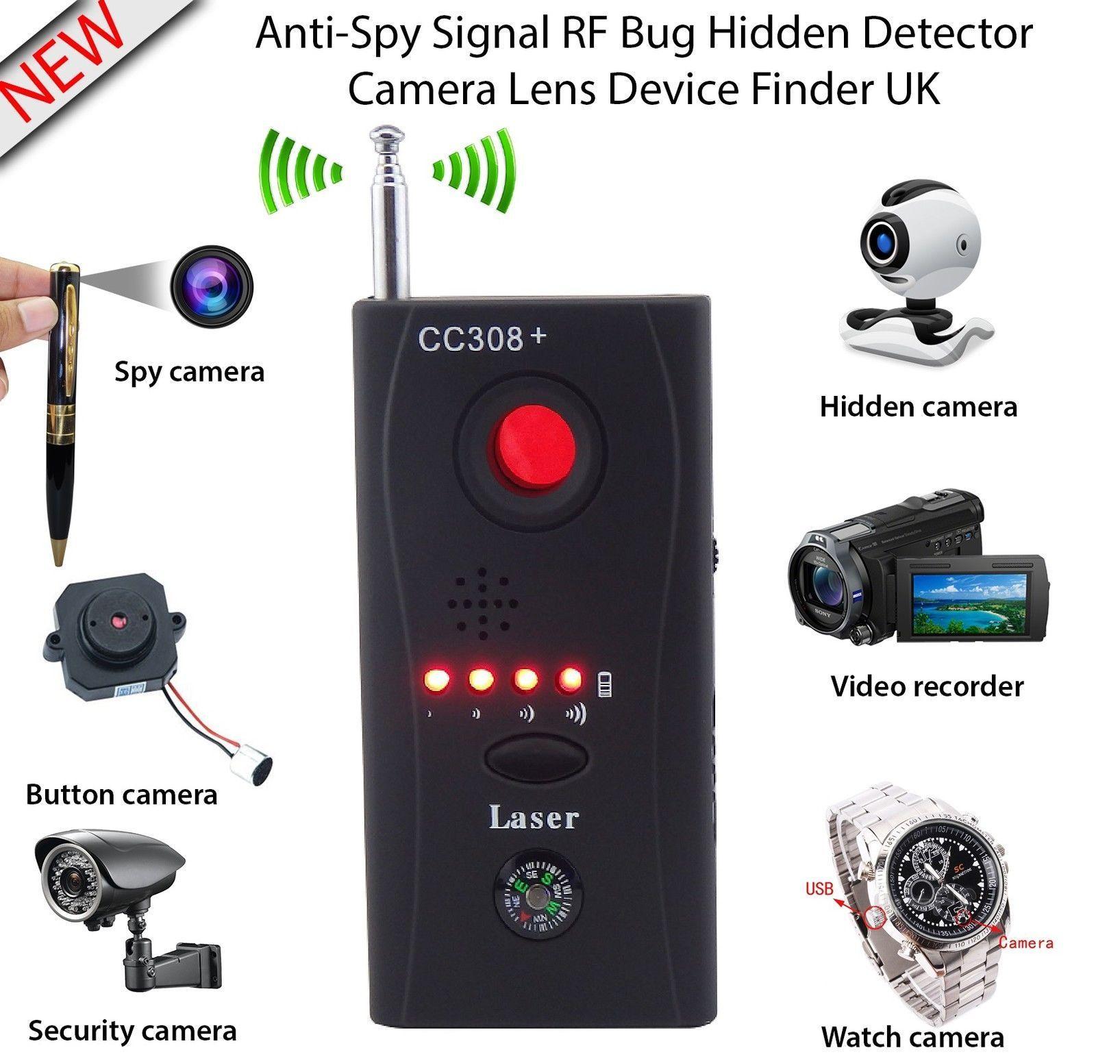 Caméra cachée GSM détecteur de bogue Audio Anti-espion détecteur de Signal GPS lentille RF Tracker