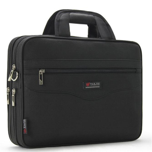 Image 1 - Business Mens Briefcase Large Capacity For Mens Handbags Totes 14.1 Inch Laptop Bags Black Official site Travel Crossbody Bag