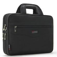 Męska teczka biznesowa o dużej pojemności dla mężczyzn torebki skrzynki 14.1 Cal torby na Laptop czarny oficjalnej stronie torba podróżna na ramię