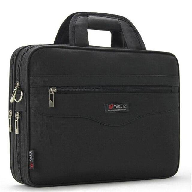 Pasta Dos Homens de negócios de Grande Capacidade Para homens Totes Bolsas 14 Polegada Laptop Bags Preto site Oficial de Viagem Crossbody saco