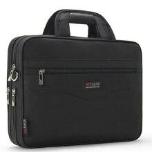 Pasta masculina de negócios grande capacidade para bolsas masculinas totes 14.1 Polegada sacos para portátil preto local oficial viagem crossbody saco