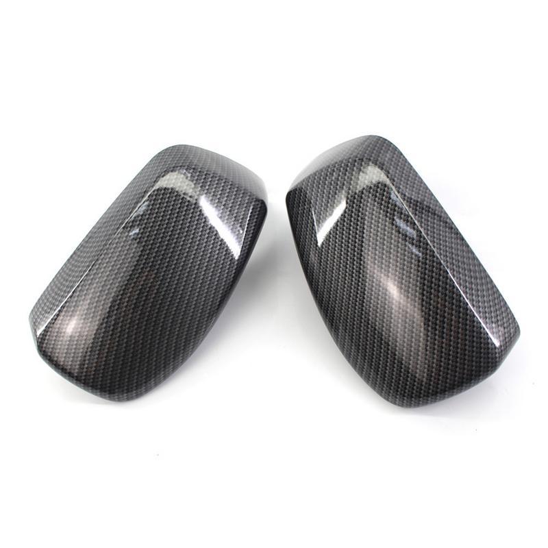 Une paire de rétroviseurs latéraux en carbone motif miroir boîtier pour BMW E60 2004-2007 Auto voiture accessoires