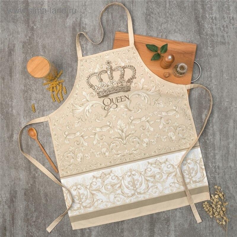 Apron Ethel Classic 60х70 cm cm, 100% CHL, twill 190 C/m2 4136517 table cloth round ethel rose d 160 cm 100