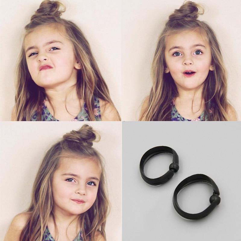 2 Pcs New Hot Fashion Elegant Women Ladies Girls Magic Shaper Donut Hair Ring Bun Fashion Hair Styling Tool Accessories