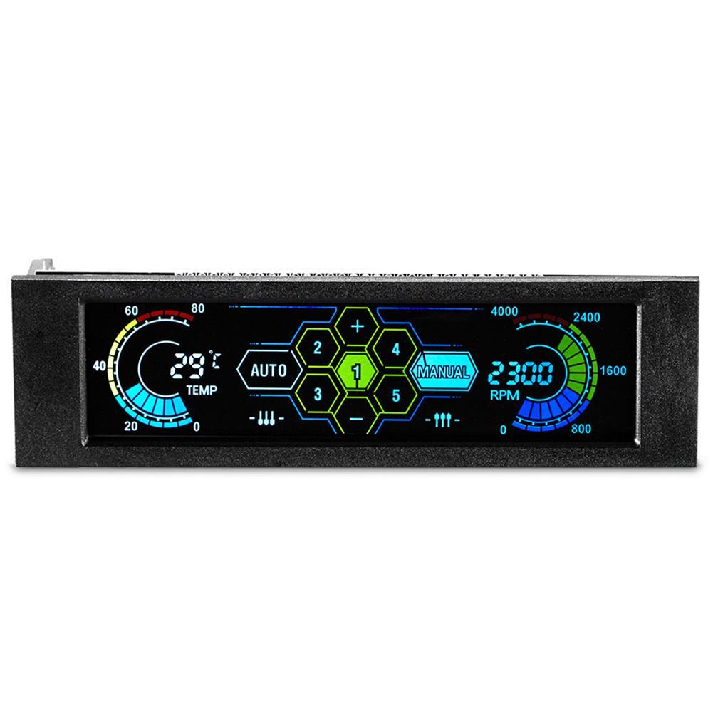 2019 New Hot CPU Cooler Drive Bay PC Speed Controller LCD Front Panel For Desktop CPU Fan Cooler кулер Desktop Fan Controller