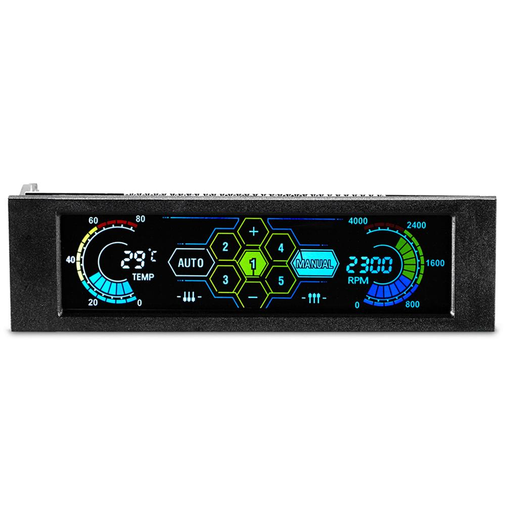 2019 New Hot Drive Bay PC Speed Controller LCD Front Panel For Desktop CPU Fan Cooler