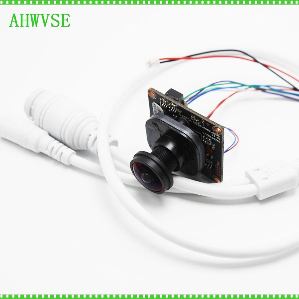 Haute résolution 1080 P IP caméra module carte XMEYE ONVIF CCTV Serveillance IRCUT bricolage CCTV caméra avec oeil de poisson 1.8mm lentille