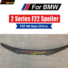 F22 Spoiler Rear Lip Wing FRP Primer black M4 Style For BMW 220i 228i 230i 235i M2 Coupe Trunk 14+