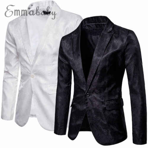 78530c3c761 ... Men s Fashion One Button Slim Fit Casual Dark-skinned Suit Business Suit  Dress Blazer Coat ...