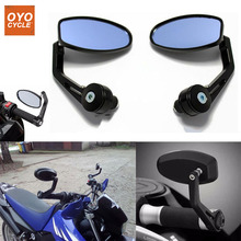 Pair 7/8 22mm Universal Handle Bar End Rearview Side Rear View Mirrors For Yamaha Honda Scooter Bikes Motorcycle Accessories