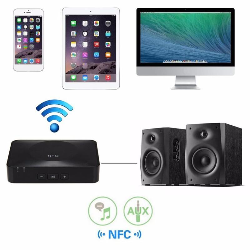 ALLOYSEED NFC 3.5mm Jack Wireless Bluetooth 3.0 Aux USB Adapter for Headphone Receiver Stereo HiFi Music Car Audio Receptor