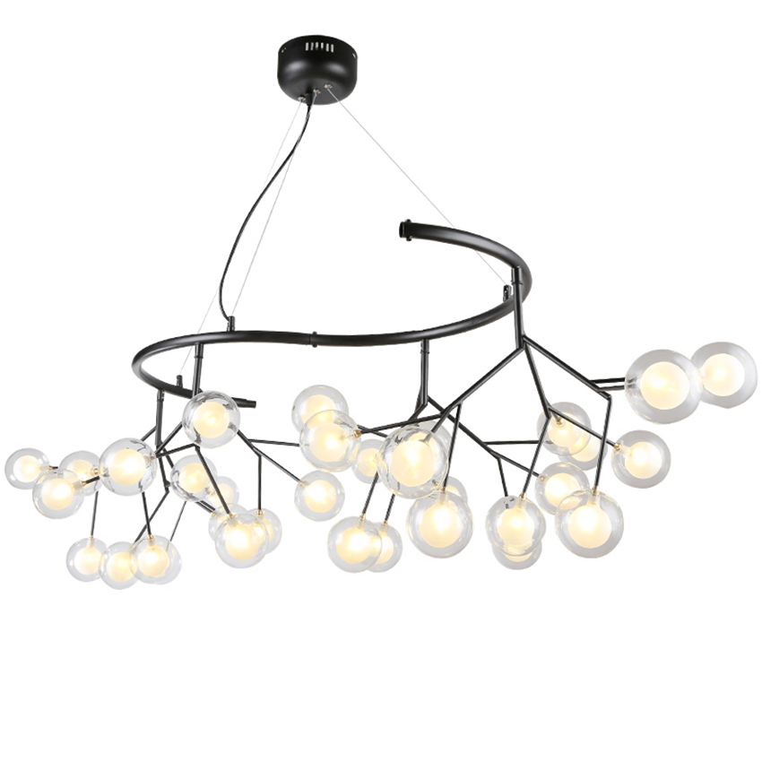 Nordic Glass Chandelire Dining Room Kitchen Fixtures Pendant Lamp Romantic Firefly Hanging Lamp Avize Lustre Lighting Luminaire