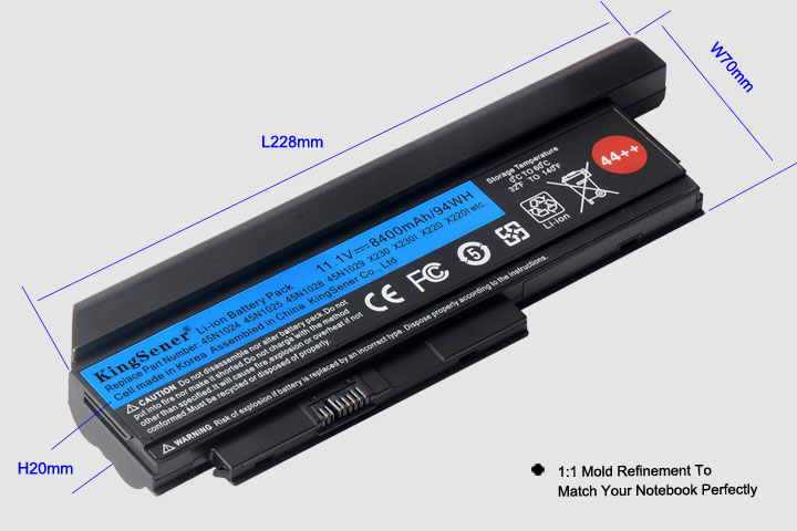 Corée Cellulaire KingSener Nouvelle Batterie D'ordinateur Portable pour Lenovo Thinkpad X230 X230I X220 X220I X220S 45N1029 45N1028 45N1172 45N1022 44 + + - 3
