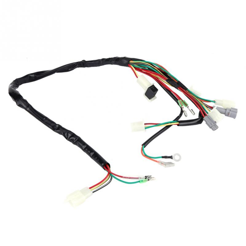 Motorcycle Replacement Wire Wiring Harness Assembly for