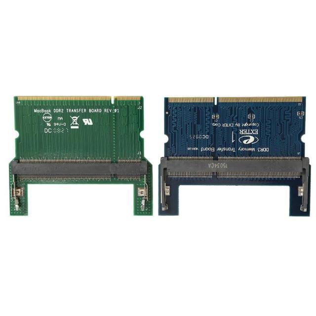 DDR2/DDR3 Dizüstü BÖYLECE DIMM Masaüstü DIMM Adaptörü RAM bellek Adaptör Kartı Bilgisayar Kabloları Konnektörleri RAM Adaptörü Kartı Promosyon