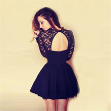Dresses Vestido De Festa Robe Femme 2019 Women Sexy Floral Lace Dress Long Sleeve Backless Party Bandage Bodycon Black Dress недорого