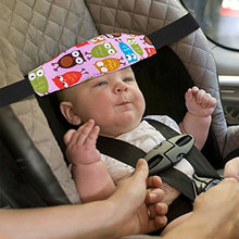 New Child Car Safety Seat Head Fixing Auxiliary Cotton Belt Pram Secure Strap Doze Band for Baby