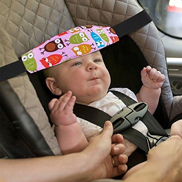Yeni Çocuk Oto Güvenlik Koltuğu Kafa Sabitleme Yardımcı pamuk kemer Pram Güvenli Kayış Doze Bandı Bebek Arabası Çocuk Koltuğu
