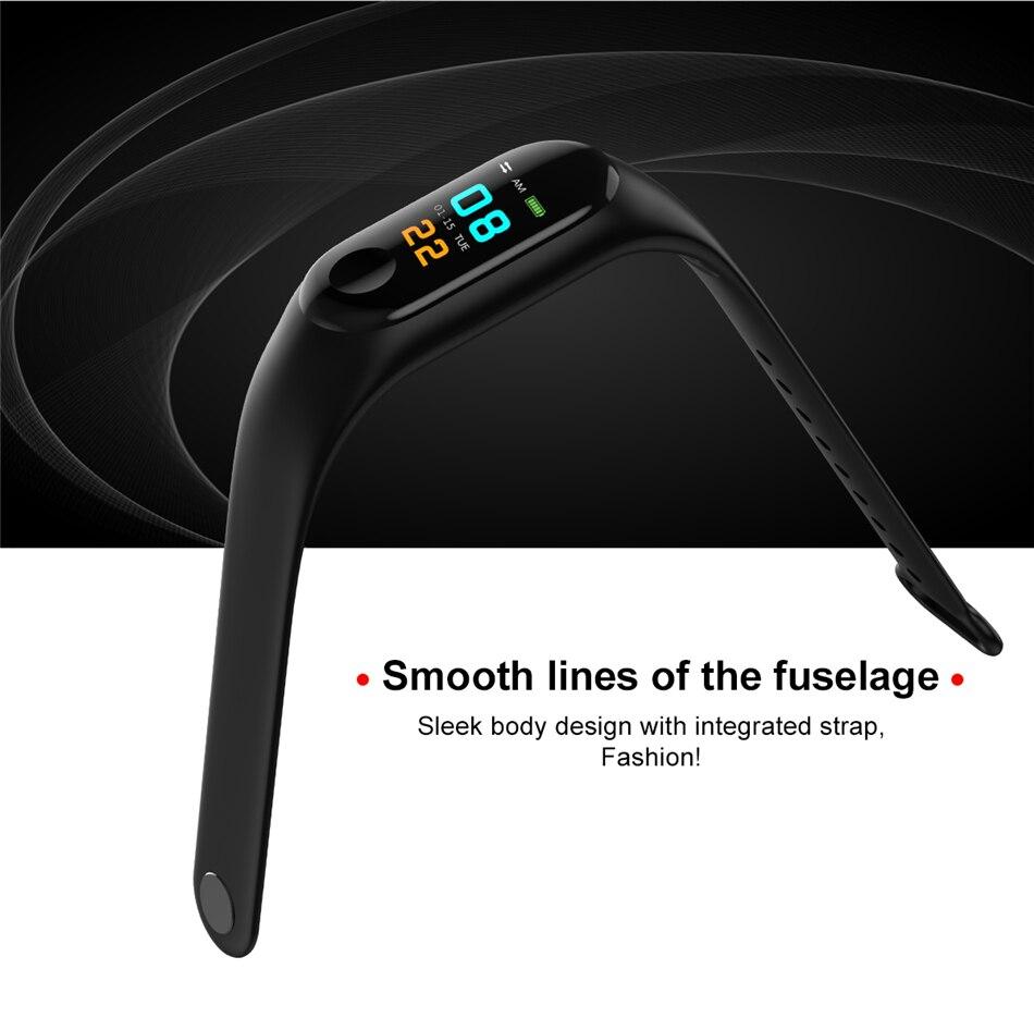 2020 Men or Women smart wrist watch digital Watch Blood Pressure Sleep heart rate monitor sport waterproof smart band bracelet