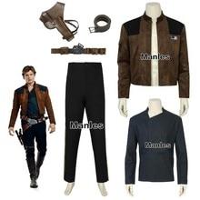 Han Solo disfraz película Solo una historia de Star Wars Cosplay carnaval  Halloween Solo camisa chaqueta pantalones Correa acces. a1d6ecceb505