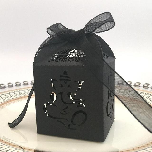 50 Pcs Hollow Wedding Candy Doos Olifant Papier Cut Snoep Zakken Ramadan Festival Bruiloft Decoratie Benodigdheden Gift Bag