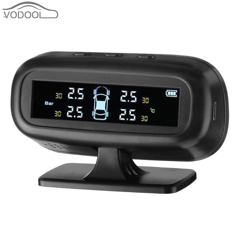Solar Power Wireless LCD Color Screen Car TPMS Automovil Tire Pressure Monitoring System Auto Tyre Alarm