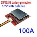 3S 4S 5S 100A 12V 16 8 V 21V PCM BMS панель защиты батареи с балансом для 18650 литий-ионных LiPO батарей 3 7 V 3 4 5 CELL