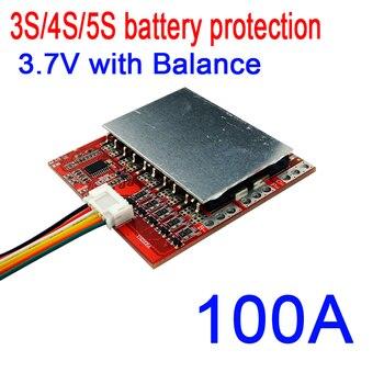 3S 4S 5S 100A 12V 16,8 V 21V PCM BMS панель защиты батареи с балансом для 18650 литий-ионных LiPO батарей 3,7 V 3 4 5 CELL