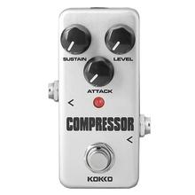 KOKKO Electric Guitar Effects Pedal Mini Compressor DC 9V Aluminum Single Pedal Guitarra Effect Guitar Parts Accessories FCP-2 kokko kw 1 guitarra pedal high quality guitar accessories vol wah guitar pedal for guitar lovers