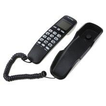 ABS Материал DTMF/FSK система дуэли настольный проводной телефонный динамик Определитель номера телефонный ЖК-дисплей черный