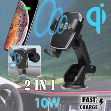 10W QI Wireless Charger Car Dashboard Holder Smartphone Holder Fast Charging Gravity Suction For iPhone XR X8 for Samsung S10+(China)