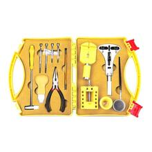 21pcs High Quality Watchmaker Tools with Yellow Case Watch Repair Tool Kit Watch Opener Link Pin Remover Hand Clock Tools watch repair tools opener knife yellow silver